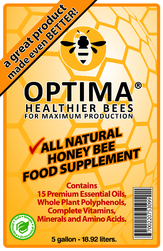 Optima front label